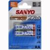 Аккумуляторы АА SANYO R6 (2700mAh) x2шт