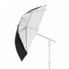Фото зонт Falcon URN-48TSB Silver/Black/White 120 см