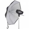 Фото зонт Falcon URN-48TWB белый и черный 122 см